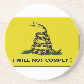 I will not comply coaster