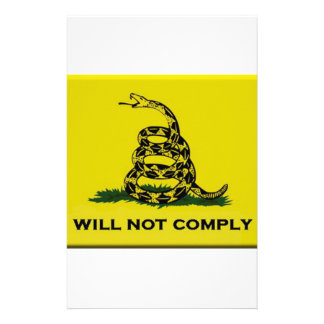 I will not comply stationery