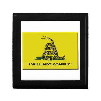 I will not comply trinket box