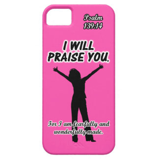 I Will Praise You - Psalm 139:14 Pink Silhouette iPhone 5 Cover