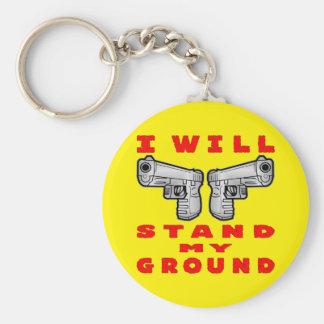 I Will Stand My Ground Auto Pistols Basic Round Button Keychain