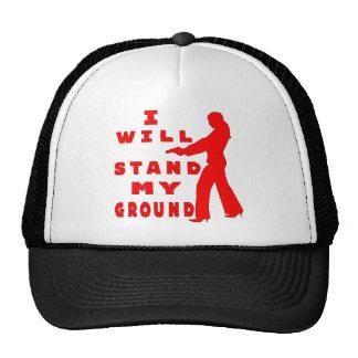 I Will Stand My Ground Female W Gun Trucker Hat