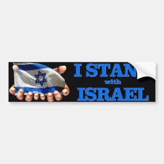 I Will Stand With Israel Bumper Sticker