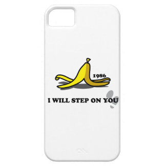 I Will Step on You Banana Skin Funny iPhone 5 Case