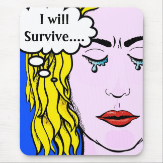 I will survive Lichtenstein style comic art Mouse Pad