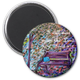 I Will Wait Upon the Lord 2 Inch Round Magnet