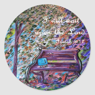 I Will Wait Upon the Lord Classic Round Sticker