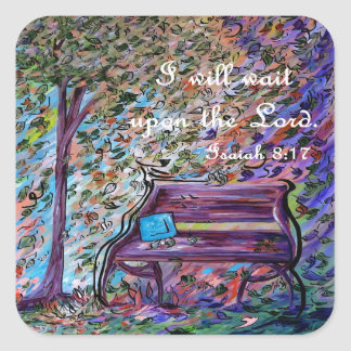 I Will Wait Upon the Lord Square Sticker