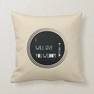 I will walk by Faith Throw Pillow