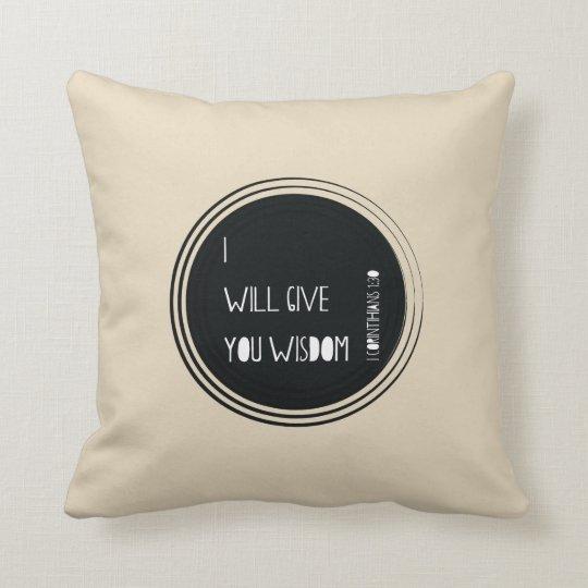 I will walk by Faith Throw Pillow