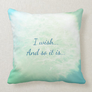 I wish...And so it is... Throw Pillow