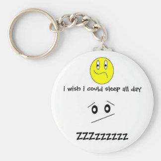 i wish i could sleep all day keychain