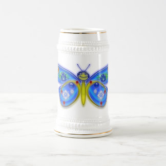 I Wish I Were a Butterfly Beer Stein