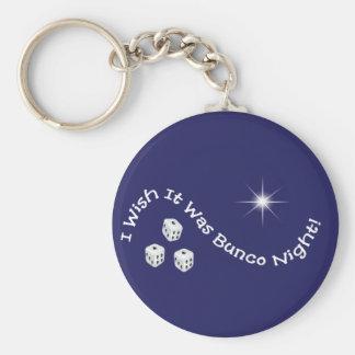 i wish it was bunco night basic round button keychain