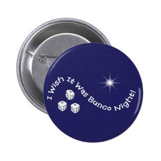 i wish it was bunco night pinback button