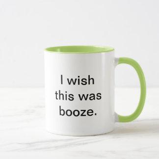 """I wish this was booze"" coffee mug. Mug"