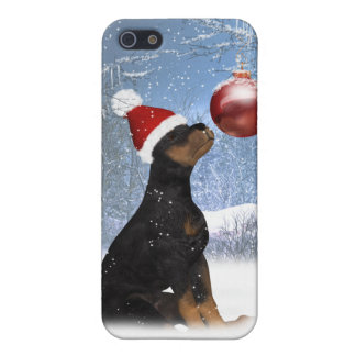 i With Cute Rottweiler Puppy - Holiday Case For The iPhone 5