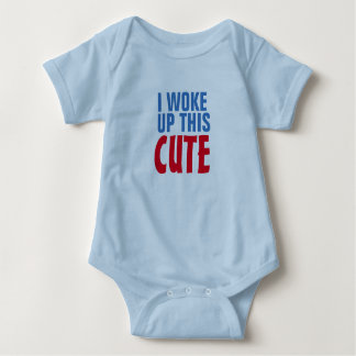 i woke up this cute funny baby bodysuit design