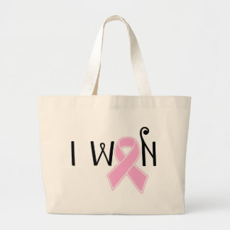 I Won Breast Cancer Awareness Large Tote Bag