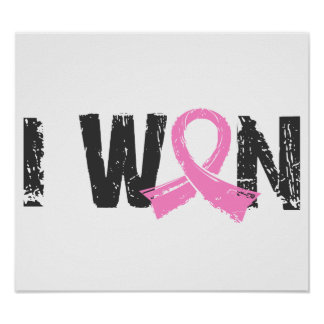 I Won Breast Cancer Poster