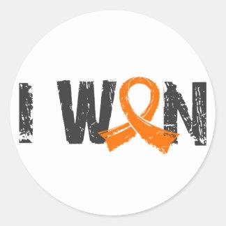 I Won Leukemia Round Sticker