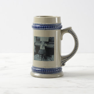 I Won't Practice Another Minute Vintage Stereoview Beer Stein