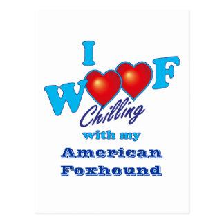 I Woof American Foxhound Postcard