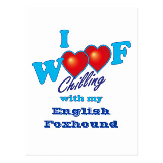 I Woof English Foxhound Postcard