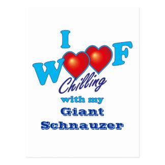 I Woof Giant Schnauzer Postcard