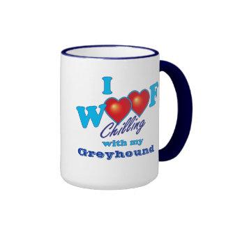 I Woof Greyhound Coffee Mug
