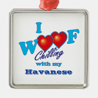 I Woof Havanese Metal Ornament