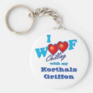 I Woof Korthals Griffon Keychain