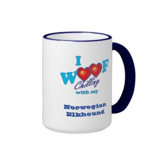 I Woof Norwegian Elkhound Coffee Mug