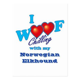 I Woof Norwegian Elkhound Postcard