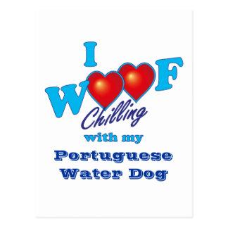 I Woof Portuguese Water Dog Postcard