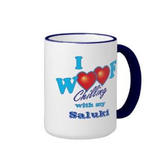 I Woof Saluki Coffee Mugs