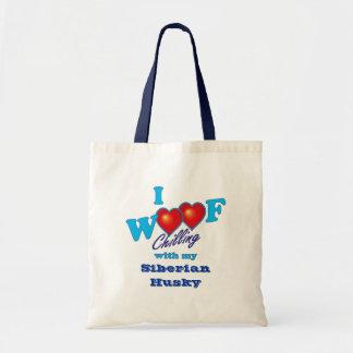 I Woof Siberian Husky Bags