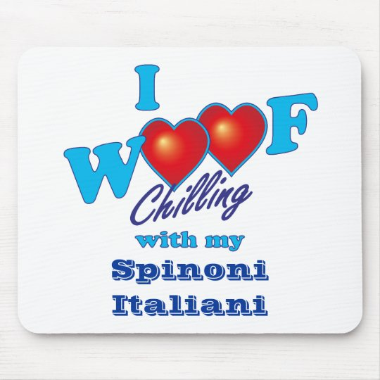 I Woof Spinone Italiano Mouse Pad