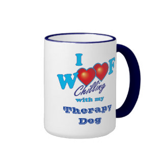 I Woof Therapy Dog Coffee Mug