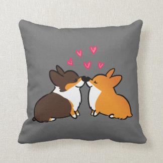 I Woof You Kissing Corgi Pillow | CorgiThings