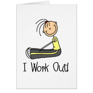 I Work Out Card