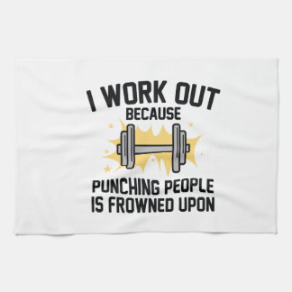 I Work Out Kitchen Towel