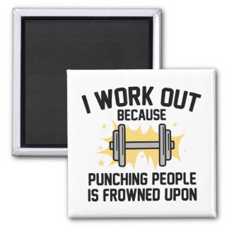 I Work Out Magnet