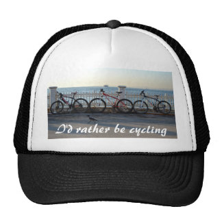I Would Rather Be Cycling Trucker Hat
