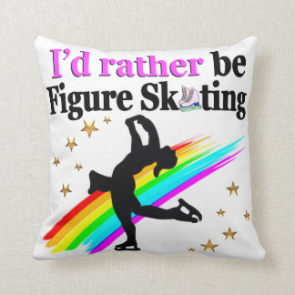 I WOULD RATHER BE FIGURE SKATING THROW PILLOW