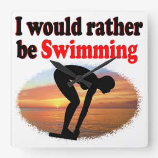 I WOULD RATHER BE SWIMMING WALLCLOCK