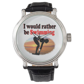 I WOULD RATHER BE SWIMMING WRISTWATCH
