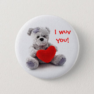 I wuv you! 2 inch round button