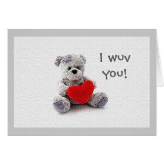 I wuv you! card