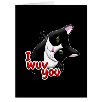 I wuv you Cat Card